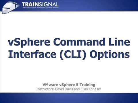 Lesson 27   vSphere Command Line Interface CLI Options -vmware vsphere