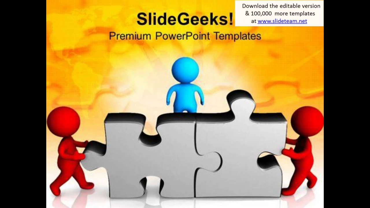 3d Team Cooperation Business Solution Powerpoint Templates Ppt Backgrounds For Slides 0413