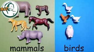 learn animal classification and animal sounds for kids with tomy ania animal part 2  アニア アニマルだ