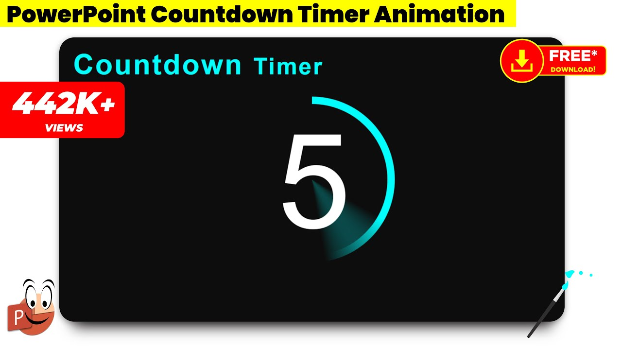 10 Create Countdown Timer Animation in PowerPoint/Powerpoint  Animations/Graphic Design/Free Template