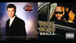 The Boss Never Gives Up Rick Astley vs Rick Ross feat T Pain Mashup