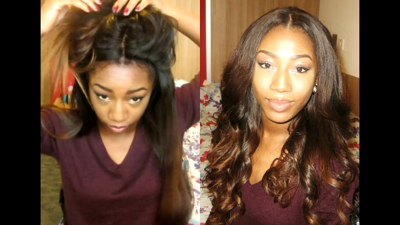 Styling my new hair light yaki impressive hair youtube pmusecretfo Images