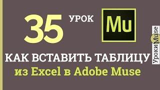 Adobe Muse уроки | 35. Как вставить таблицу из Excel в Muse(http://muse.rodosvet-video.ru – бесплатно 3 шаблона и 49 виджетов для Adobe Muse, подписка на рассылку. Об этом видео: Это видео..., 2016-04-04T09:13:29.000Z)