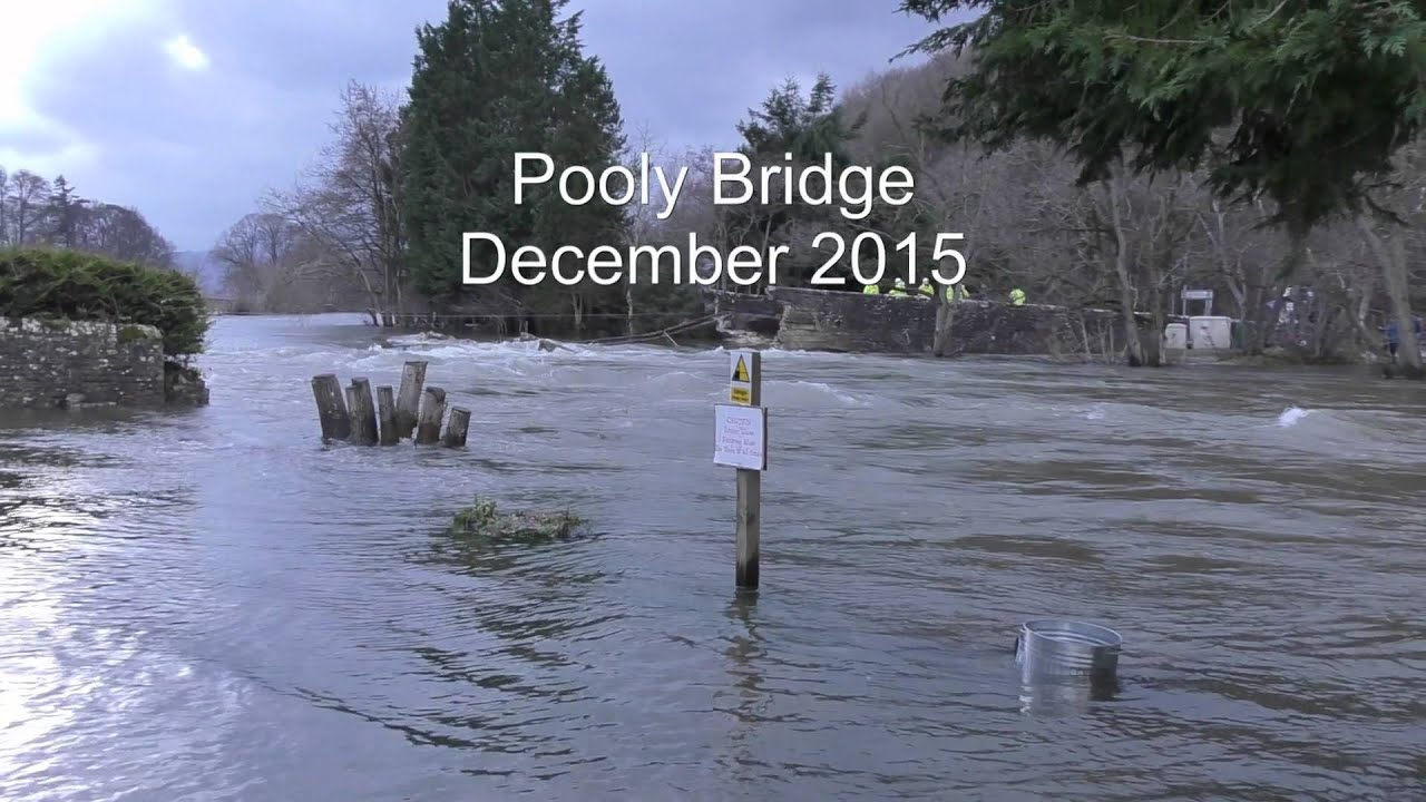 flooding at pooley bridge  cumbria december 2015