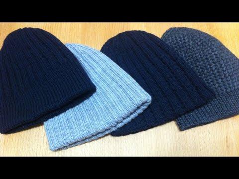Обзор вязаных шапок / Мужские шапки / Шапки спицами | knitting hat review