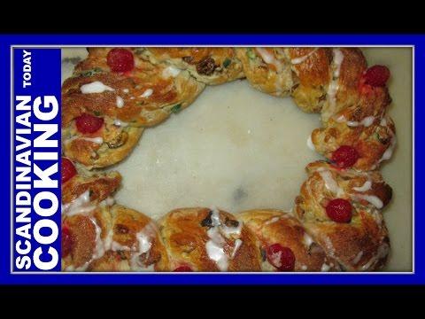 How To Make Danish Christmas Bread Wreath Recipe  🎄 Jule brød 🎁