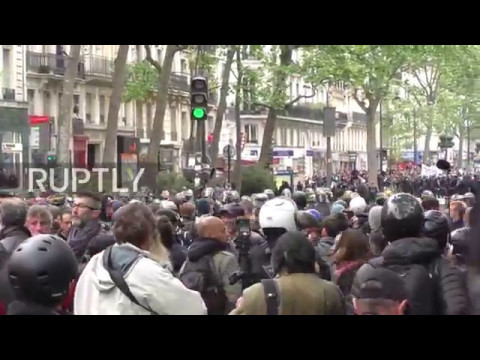 France: Tensions rising in Paris as protesters rally against Macron's victory