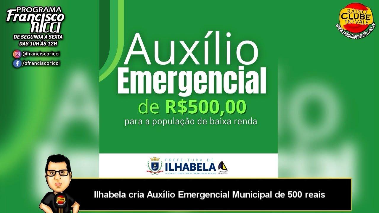 Ilhabela cria Auxílio Emergencial Municipal de 500 reais