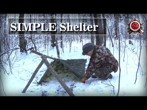 A Simple And Easy Poncho Shelter