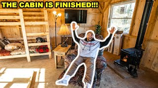 My BACKYARD OFF-GRID CABIN is COMPLETE!!! (Full Tour)