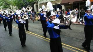 Raiders Drum & Bugle Corp. Marching Band in Montclair NJ 4th of July 2015 Parade