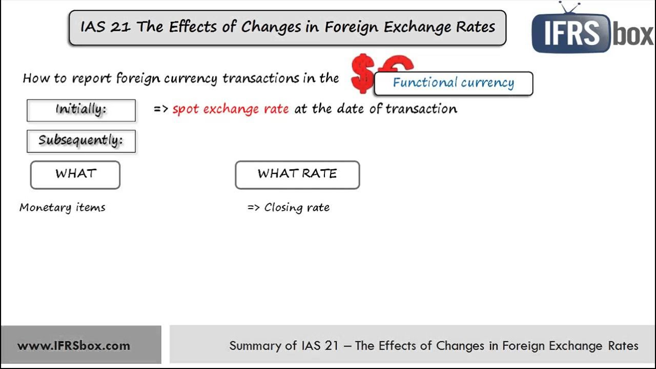 IAS 21 The Effects of Changes in Foreign Exchange Rates - IFRSbox