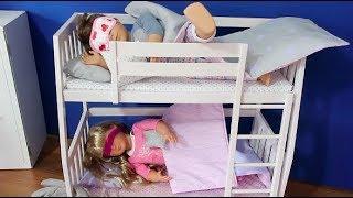 Pijama Kombin Challenge Oyuncak bebeklerime Uyku için iki katlı Yatak açıyoruz sleep Bidünya Oyuncak