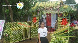 Hướng dẫn làm cổng cưới Miền Tây bằng lá dừa - Bản đầy đủ (full)