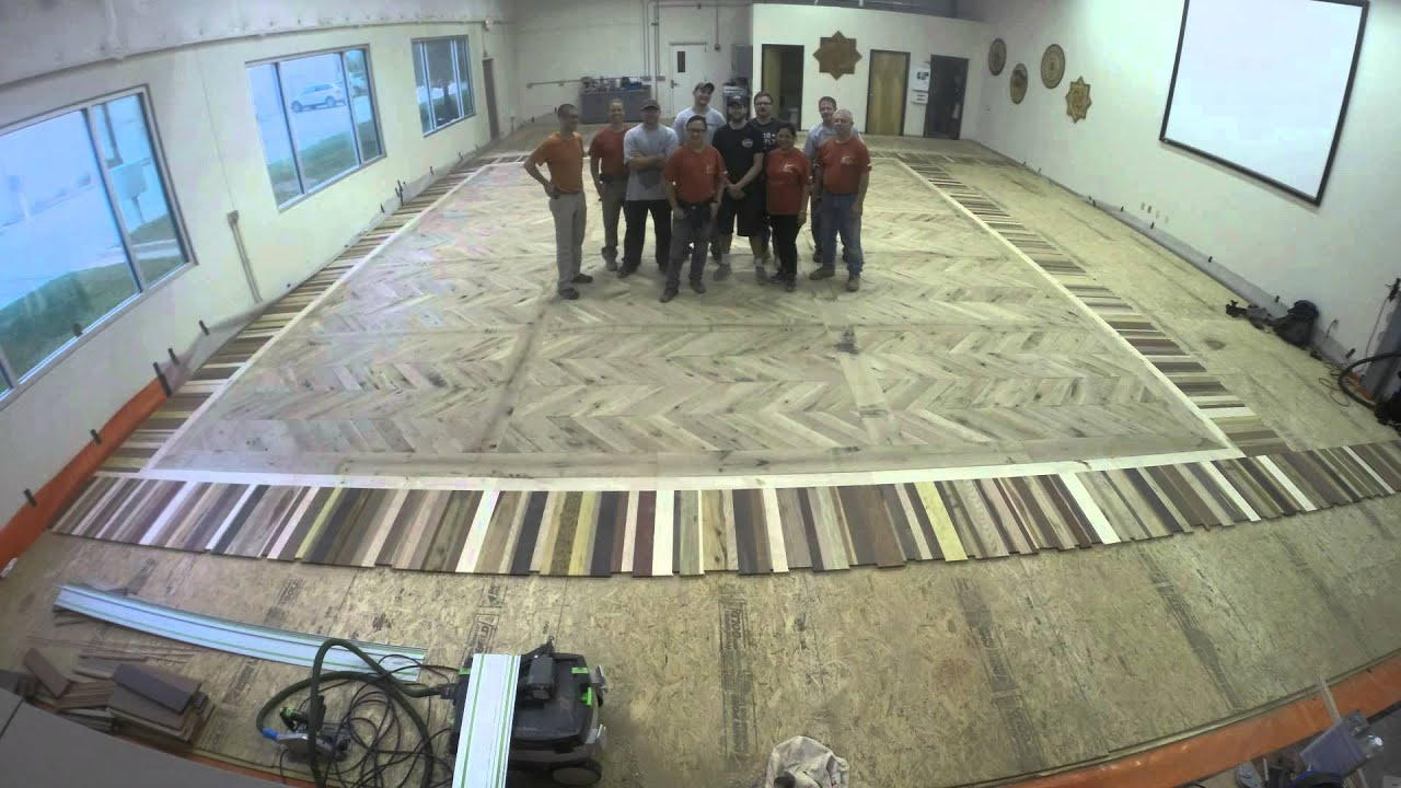 Advanced installation time lapse national wood flooring