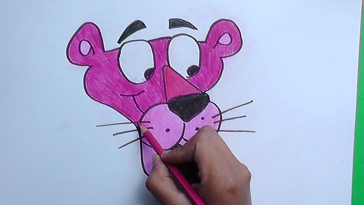 Dibujando y pintando a la Pantera Rosa - Drawing and painting at the ...