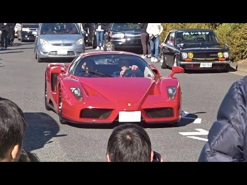 【大黒PA】スーパーカー加速サウンド/Supercars sound in Japan. ENZO, RWB, FordGT, Aventador, more❕