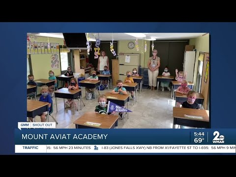 Mount Aviat Academy in Cecil County says Good Morning Maryland!