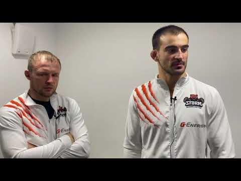 Александр Шлеменко и Андрей Корешков - интервью после боя