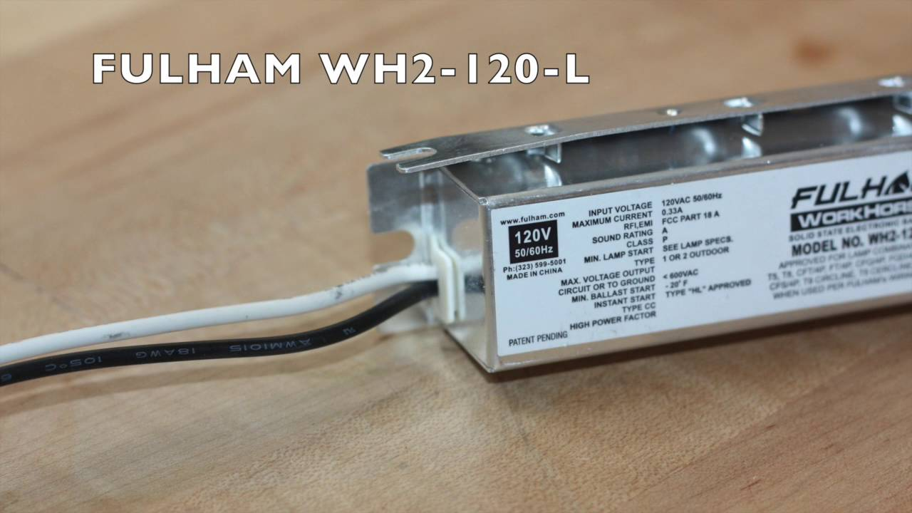 Fulham Wh2 120 L Youtube Workhorse Electronic Ballast Wiring Diagram The Lighting Spot