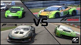 Assetto Corsa Competizione vs GT Sport vs Project Cars 2 vs Forza 7