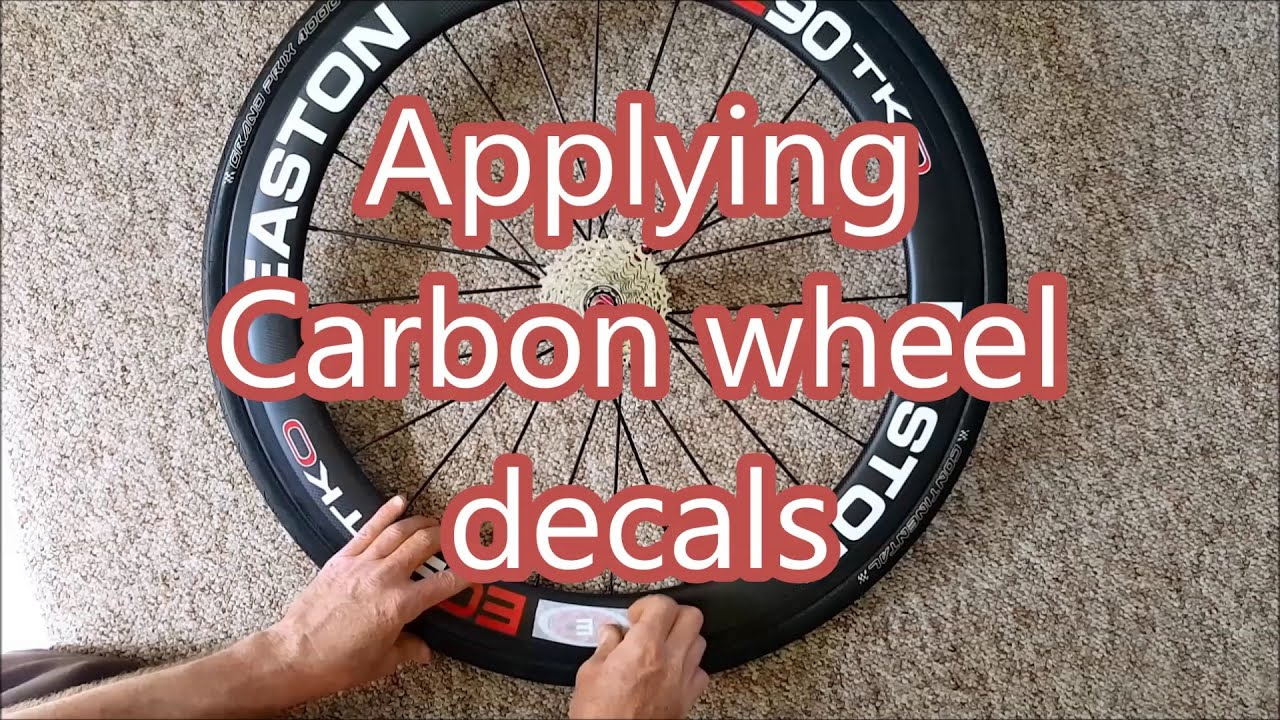 Applying carbon wheel decals