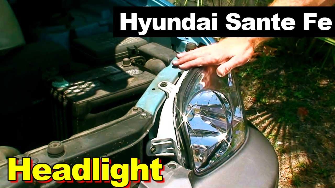 2003 Hyundai Santa Fe Headlight Youtube