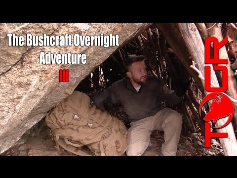 Real Bushcraft in a Winter Storm - The Bushcraft Overnight Adventure III