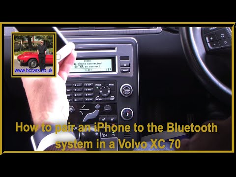 How to pair an iPhone to the bluetooth system in an Volvo XC 70