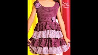 Crochet Patterns| free |crochet baby dress| 2608