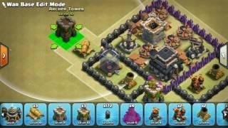 The strongest war base: Base war TH 9 terkuat - November 2016 (replay attack) - tipe 8