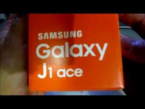 SAMSUNG GALAXY J1 ACE blue UNBOXING MUZIK