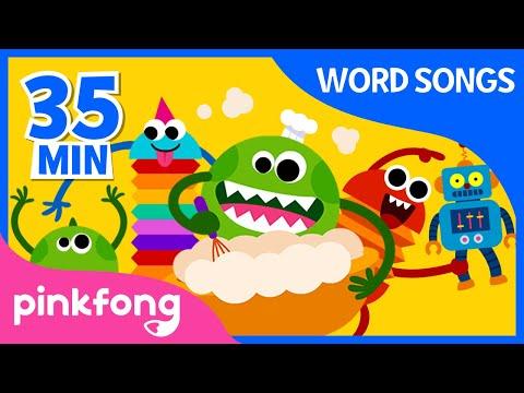 Word Songs | Canciones De Palabras En Inglés | Aprender Inglés Para Niños | +Recopilación | Pinkfong