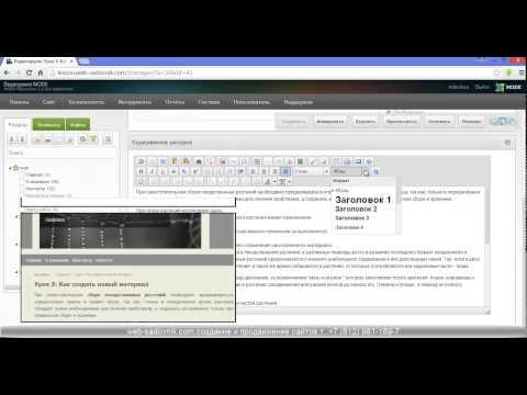 видео: Уроки modx. Урок 4: Как разместить текст на сайте