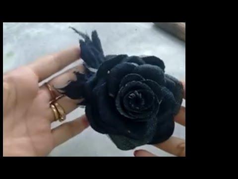 Rosa jeans, flower jeans ,