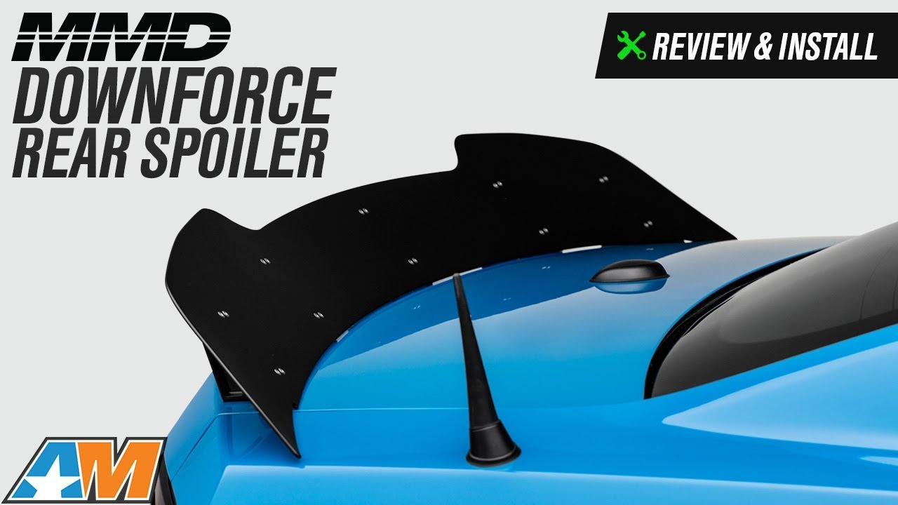 2010 2014 Mustang Mmd Downforce Rear Spoiler Review Install