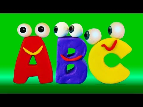 Learn ABC with surprise eggs and Play-Doh alphabet I ABC 123 Playhouse Stop motion