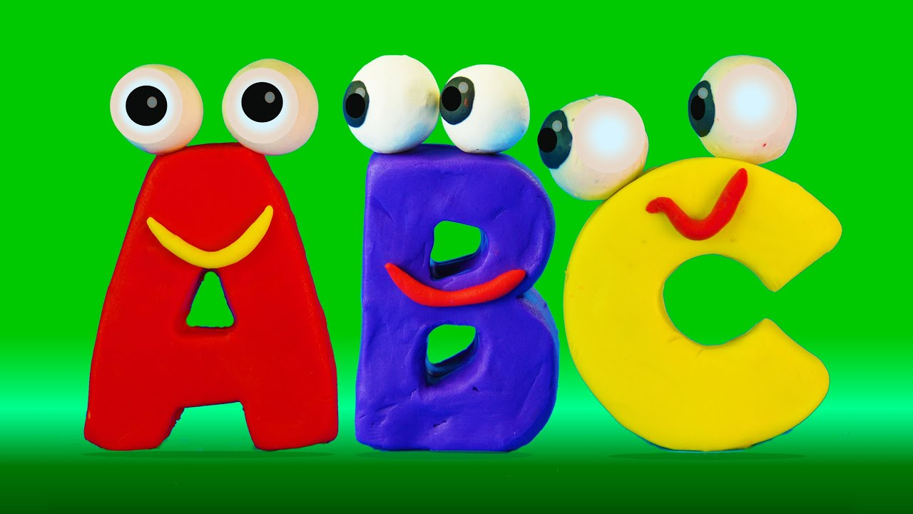 learn abc with surprise eggs and play-doh alphabet i abc 123