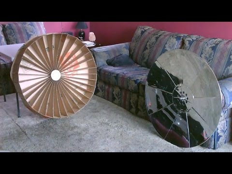 How to make a Parabolic Dish Solar Cooker! - (simple 'detailed' instructions) - DIY solar death ray
