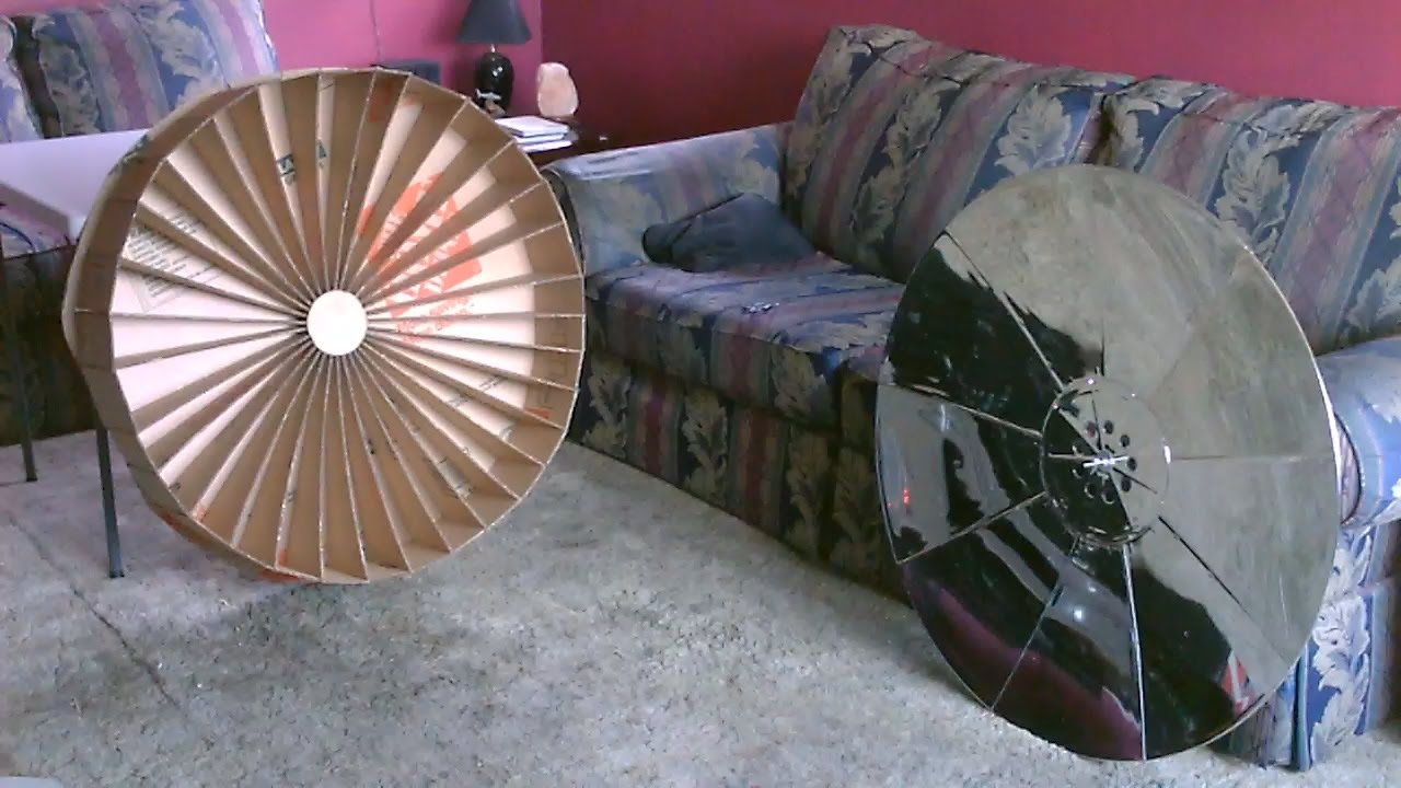 How to make a Parabolic Dish Solar Cooker! - (simple ...