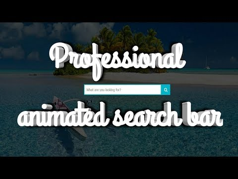 How To Create Search Bar In Html And Css