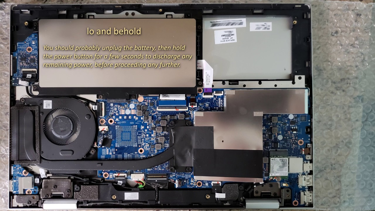 HP ENVY x360 15-cn0008ca disassembly