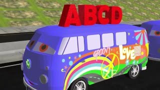 ABCD Songs | Alphabet Songs On Tempo Van For Kids | Famous ABC Songs For Children
