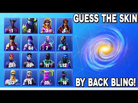 GUESS The Fortnite Skin By The Back Bling! *HARD*