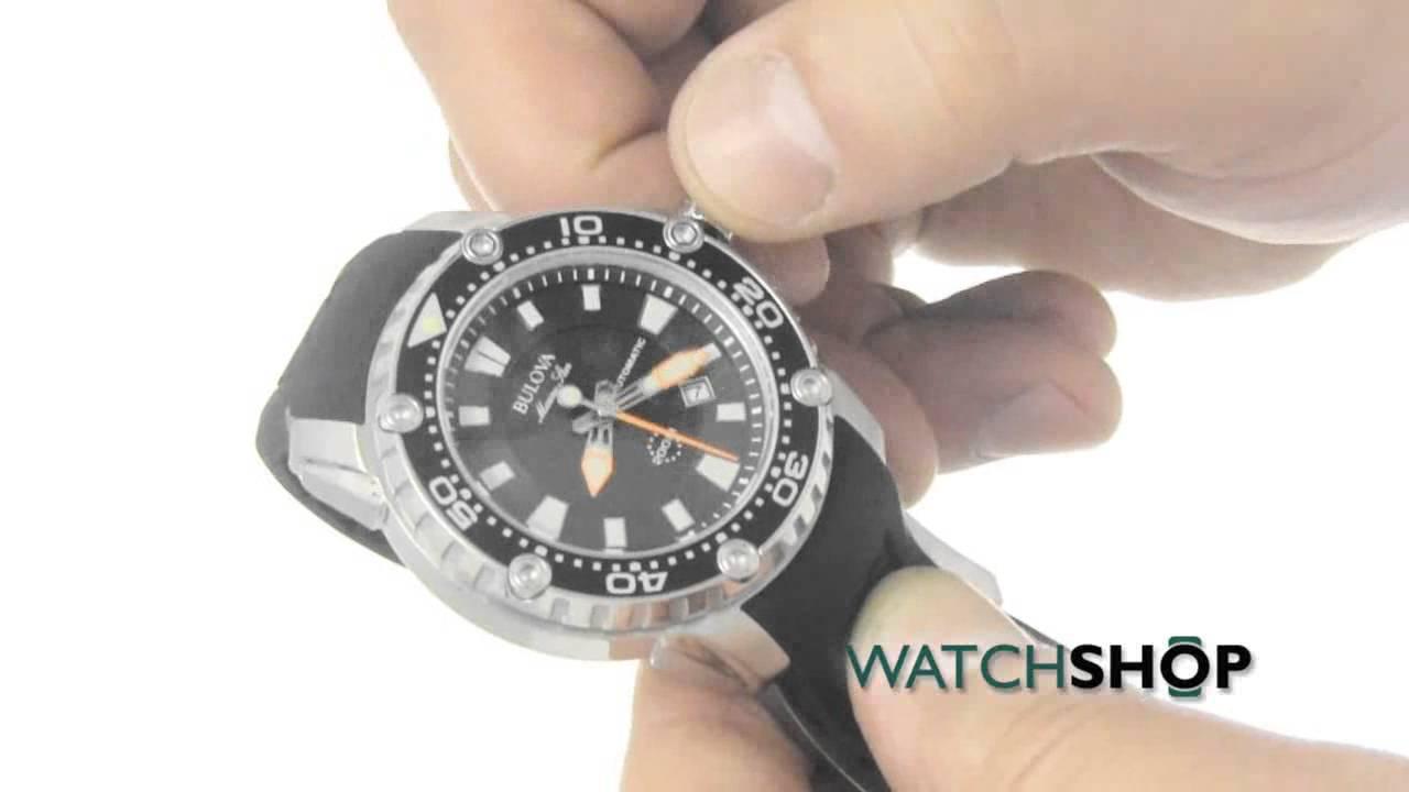 b96e406a1 Men's Bulova Marine Star - Satellite Automatic Watch (98B209) - YouTube