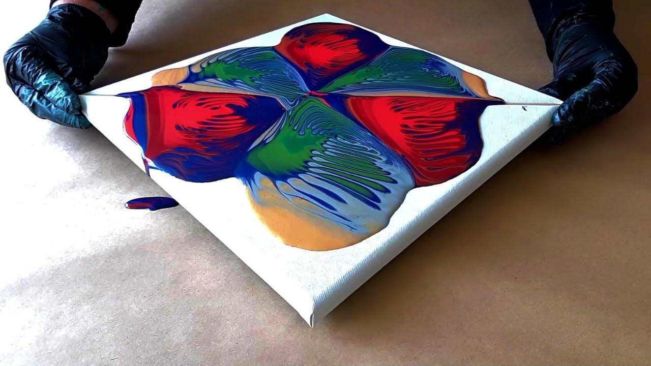 Geometric Succulents | Ultimate DecoArt Recipe Pour | Folding Fluid Art!
