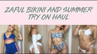 ZAFUL BIKINI/SUMMER TRY ON HAUL !!!!