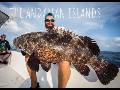 The Andaman Island - Double hookup with a Malabar grouper and a Dogtooth Tuna!