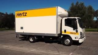 Hertz 22 Cubic Metre Van Taillift Operation (Can Be Driven On A Car License)