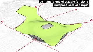 Convertir el Camp Nou en un parque de 26 hectáreas es la propuesta de una smart office de Barcelona
